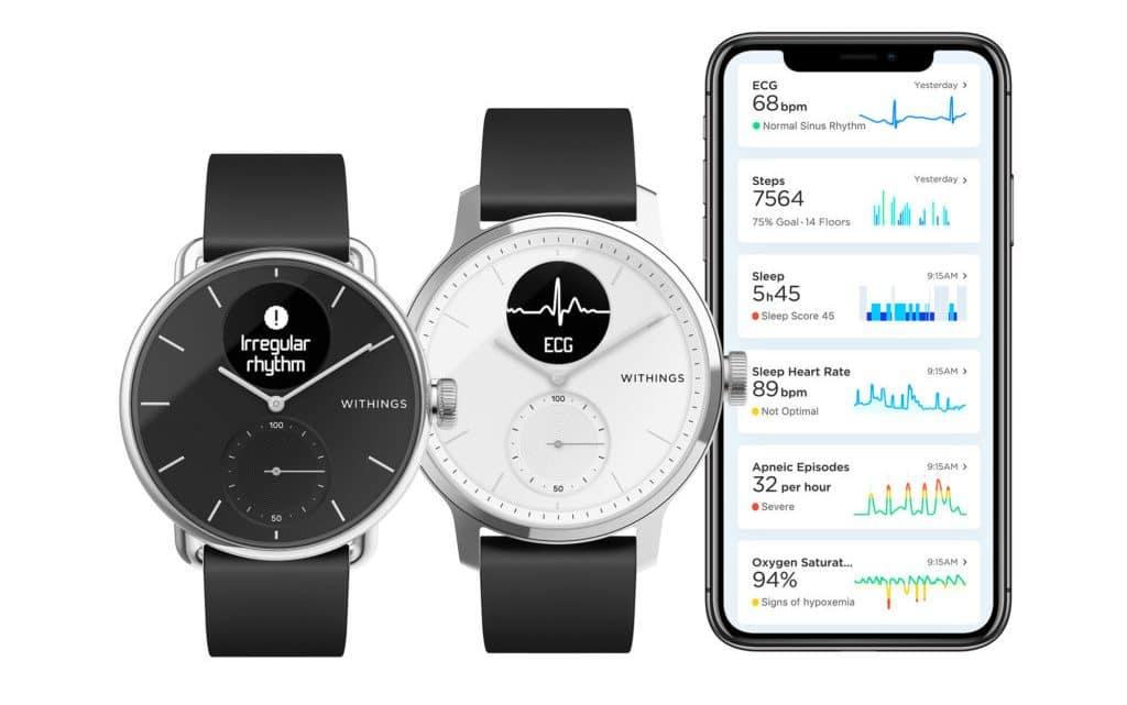 ScanWatch, la montre connectée qui détecte votre apnée du sommeil.